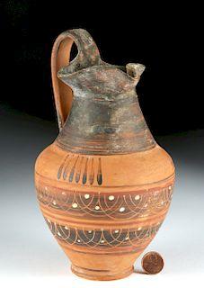 Etrusco Corinthian Trefoil Oinochoe - Lovely Decoration