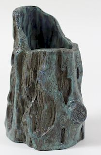 Chinese Peacock Feather Glazed Porcelain Brush Pot