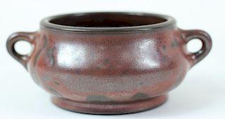 Chinese Bronze Imitation Glazed Porcelain Censor