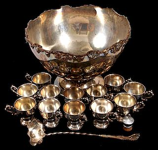 Large Silver Plate Punchbowl