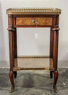 A Louis XV Style Side Table Height 30 x width 18 1/4 x depth 13 1/4 inches.