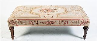 * A Louis XVI Style Bench Height 15 x width 48 x depth 26 inches.