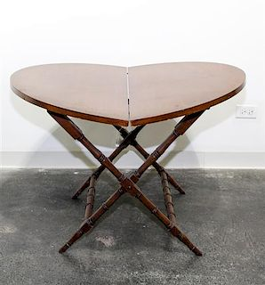 A Mahogany Coaching Table Height overall 26 inches.