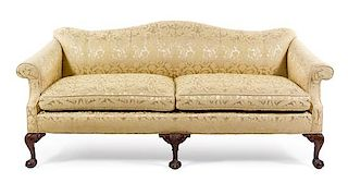 * A George II Style Mahogany Sofa Height 33 x width 80 x depth 34 1/2 inches.