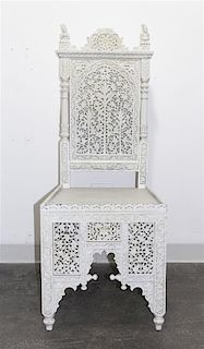 * A White Painted Anglo-Indian Side Chair Height 47 inches.