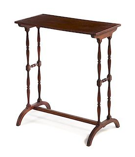 A Mahogany Side Table Height 26 1/2 x width 23 5/8 x depth 11 5/8 inches.