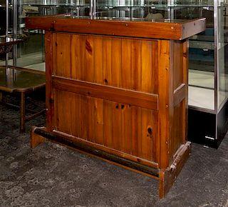 An American Pine Bar Height 42 x width 53 1/2 x depth 21 inches.