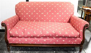 A Pair of Mike Bell Upholstered Sofas Width 65 inches.