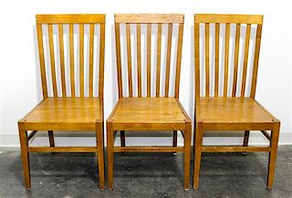 A Set of Eight American Dining Chairs Height 39 1/2 inches.