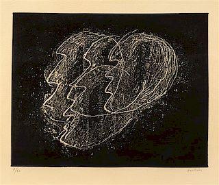 * Jean Fautier, (French, 1898-1964), Otages fond noir, 1946