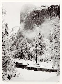 Ansel Adams, (American, 1902-1984), El Capitan, Winter