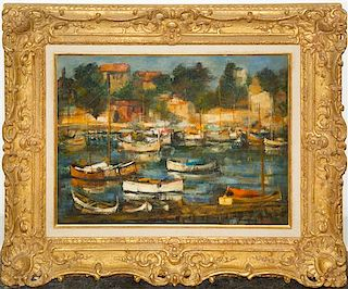 * Daniel Jaugey, (French, b. 1929), Petit Port de Beaulieu, 1966