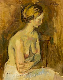 Moses Soyer, (American, 1899-1974), Study of a Blond Woman