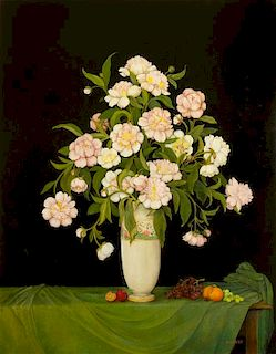 * Artist Unknown, (20th century), Still Life with Peonies in a Vase