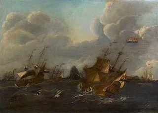 * Style of Abraham Storck, (Dutch, 1644-1708), Seascape