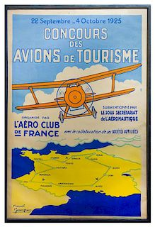 Marcel Jeanjean, (French, b. 1893), French Aviation Poster