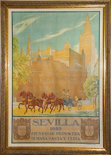 Miguel Angel del Pino Sarda, (Spanish, 1890-1973), Seville: Spring Festivals and Holy Week, 1923