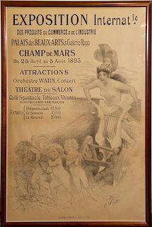 Adolphe Willette, (French, 1857-1926), Exposition International des Produits du Commerce & de L'Industrie, 1893