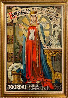 V. Facon, (20th century), Exposition des Anciennes Industries d'Art Tournaisiennes, 1911