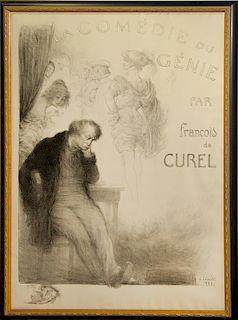 Charles Leandre, (French, 1892-1934), La Comedie de Genie par Francois de Curel, 1921
