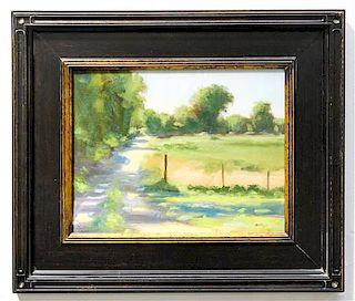 Jayne Bellows, (American, 20th century), Rural Landscape