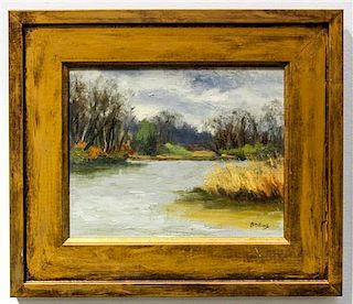 Jayne Bellows, (American, 20th century), Shipyard Creek, Kent County, MD