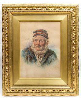 James Drummond, (British, 1816-1877), An Old Salt