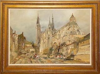Jan de Vogel, (Dutch, Early 20th century), City Scene
