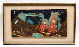 * Sterling Strauser, (American, 1907-1995), Horse-Drawn Locomotive