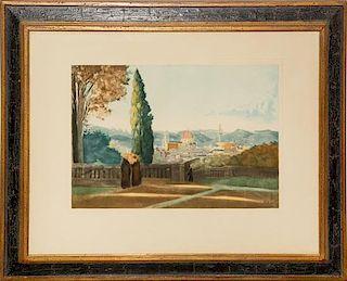 * After Jean-Baptiste-Camille Corot, (French, 1796-1875), Vue de Florence depuis le jardin de Boboli