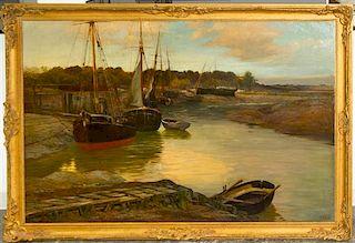 * James Lee Bilbie, (British, 1860-1945), Boats
