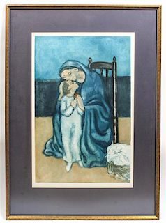 * After Pablo Picasso, (20th century), Mother and Child