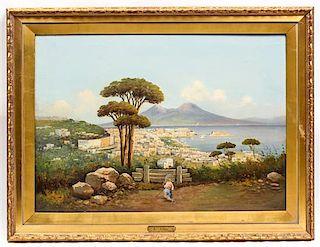* E. Lenso, (20th century), Coastal Scene