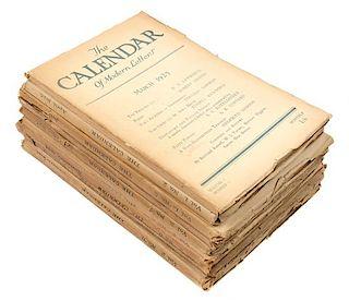 [LITERARY CRITICISM]. The Calendar of Modern Letters. [London: Calendar Press, 1925-1926].