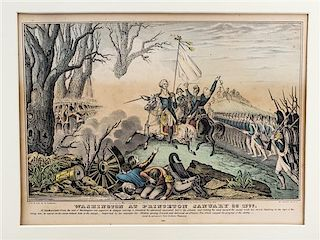 * A Group of American Prints, , some hand colored, 16 total.