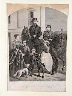 * A Group of American Prints, after Currier & Ives , some hand colored, 19 total.