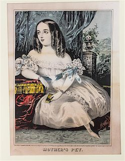 * A Group of American Prints, most after Currier & Ives, , 21 total.