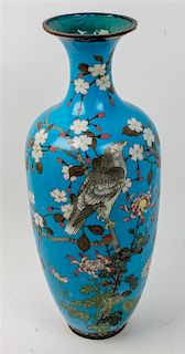 * A Chinese Cloisonne Vase Height 23 1/4 inches.