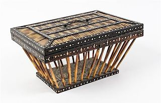 * An Anglo-Indian Quill Basket Width approximately 12 inches.