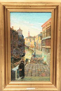 20th C. Italian Micro Mosaic of 1800s Venice