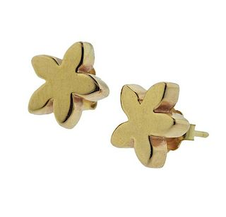 Tous 18K Gold Flower Earrings
