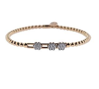 Hulchi Belluni 18K Gold Diamond Bracelet