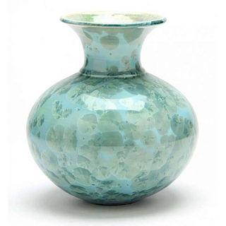 NC Pottery, Phil Morgan, Crystalline Vase