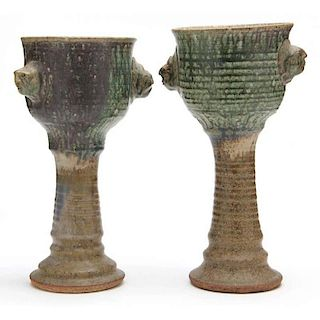 NC Art Pottery, Tom Suomalainen, Two Goblets