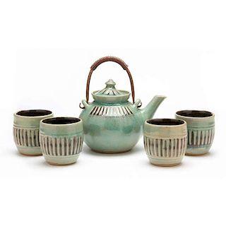 NC Pottery, Pamela Owens, Tea Set