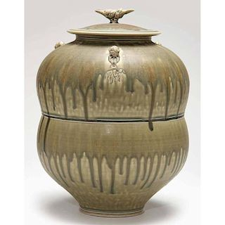 Studio Pottery, Tom Turner Pottery, Bi-Fold Jar