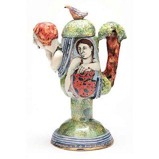 NC Art Pottery MaryLou Higgins (1926-2012), Teapot