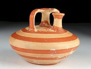 Published Mycenaean Pottery Bichrome Stirrup Jar