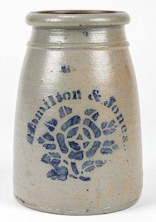 HAMILTON & JONES GREENSBORO PA, STONEWARE JAR