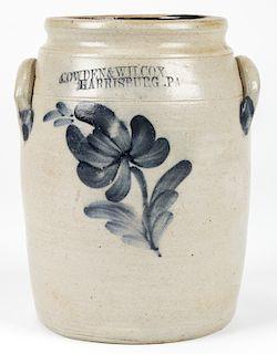 COWDEN & WILCOX  HARRISBURG .PA. STONEWARE JAR